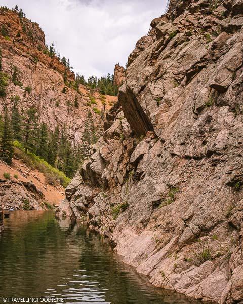 Rock Mountains at Seven Falls in Colorado Springs
