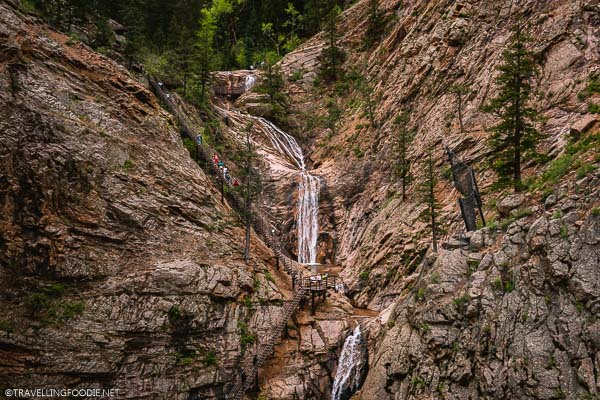 Seven Falls from observation deck in Colorado Springs