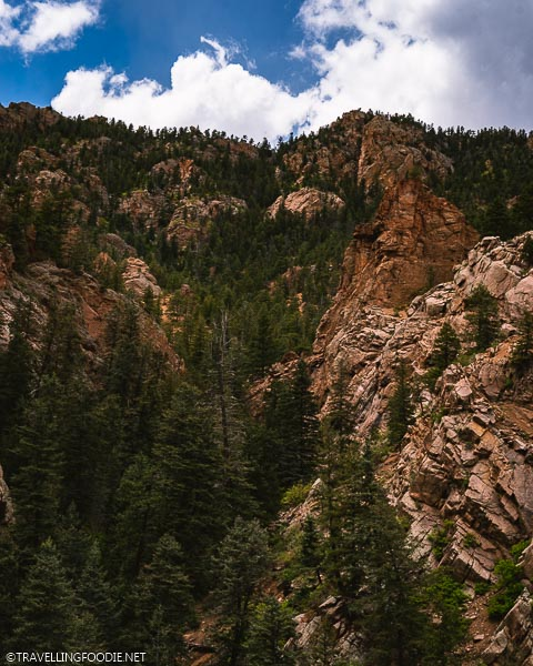 Tall Rock Mountains at Seven Falls in Colorado Springs
