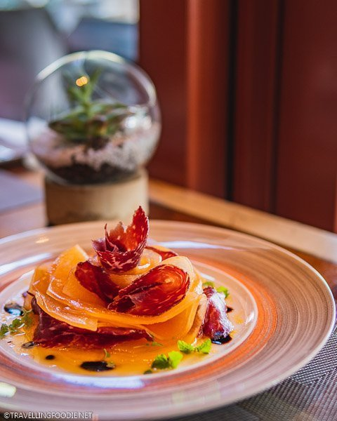 Rock Melon with Beef Bresaola at The Knolls in Capella Singapore