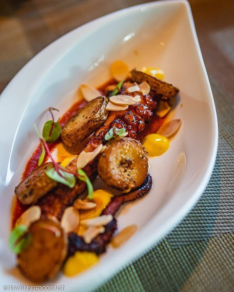 Grilled Octopus at The Knolls in Capella Hotel, Sentosa Island, Singapore