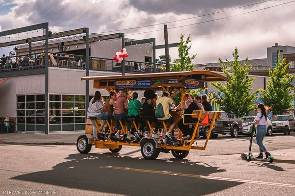 Bike Bar with Pedal Hopper in Denver, Colorado
