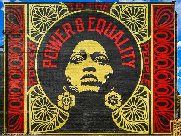 Obey Giant's Power & Equality mural in Denver
