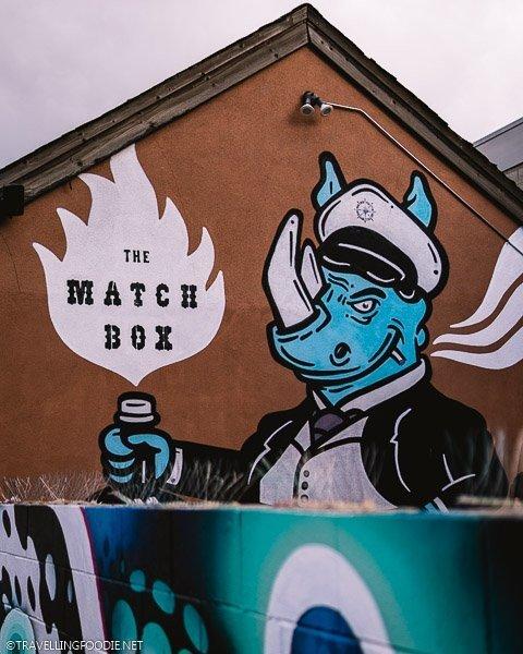 Rhino with The Matchbox Graffiti in River North RiNo Neighborhood