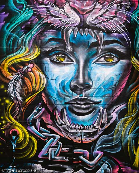 Close-up Mural by Chad Bolsinger at River North RiNo Art District in Denver