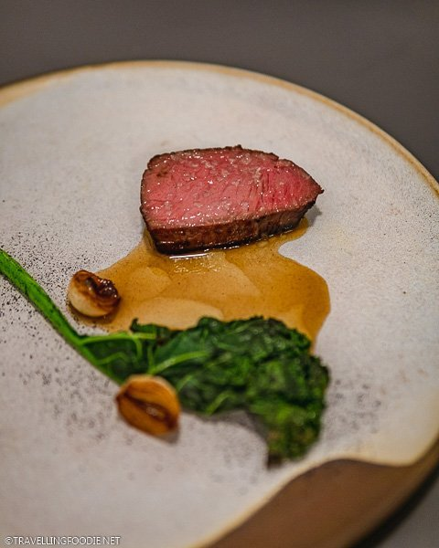 Beef Course for Traditional Tasting Menu at Est Restaurant in Toronto