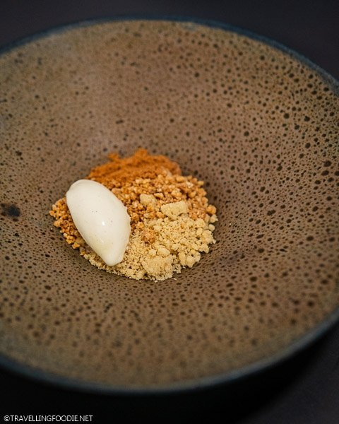 Vanilla, Mint & Hazelnut Crumble Dessert