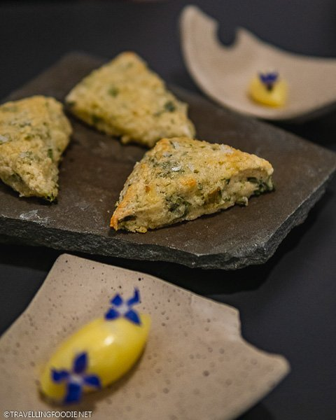 Leek Scone with Cultured Butter