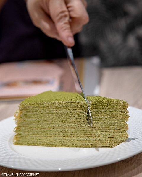 Matcha Crepe Cake at La Creperie at Ayala Malls Vertis North