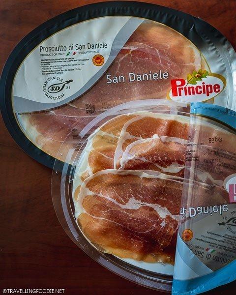 Two packs of Prosciutto di San Daniele