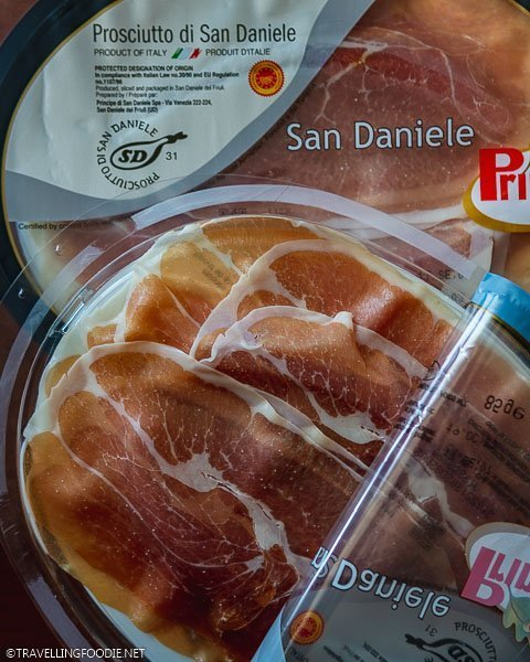 Opened and Unopened packs of Prosciutto di San Daniele