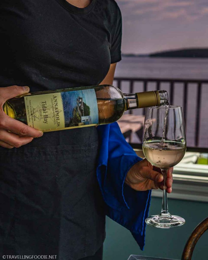 Tidal Bay Wine 2016 from Annapolis Highland Vineyards at Argyler Lodge in Argyle, Nova Scotia