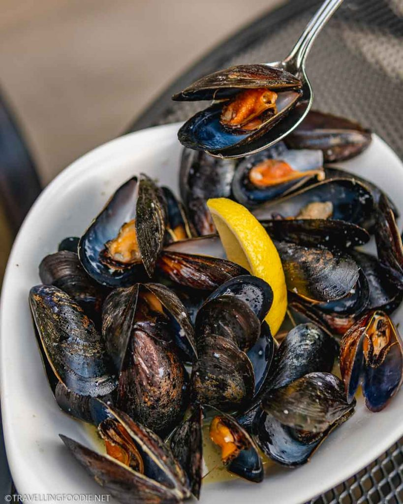 Steamed Mussels at Blomidon Inn Restaurant in Wolfville, Nova Scotia