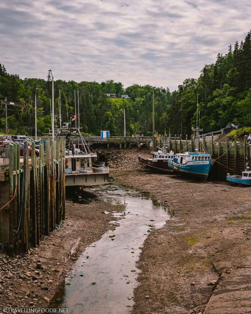 Low Tide at Halls Harbour Lobster Pound in Nova Scotia