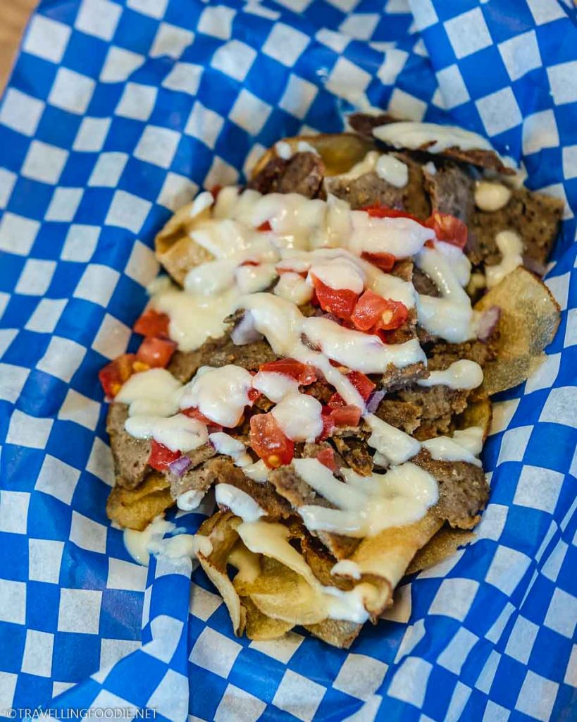 Donair Brewer's Chips at Heritage Kitchen Food Truck in Yarmouth, Nova Scotia