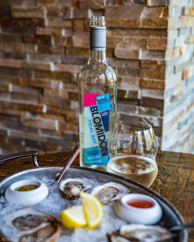 Blomidon Tidal Bay Wine 2018 at Shuck Bar in Halifax, Nova Scotia