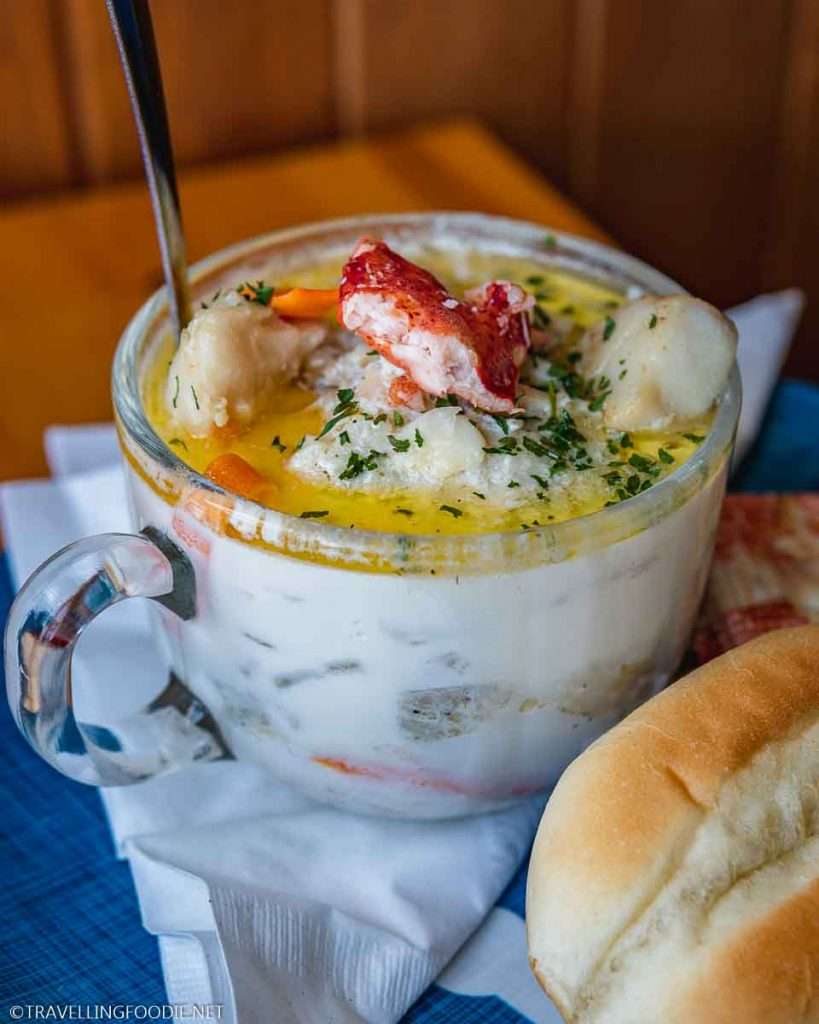 Seafood Chowder at The Crow's Nest in Digby, Nova Scotia
