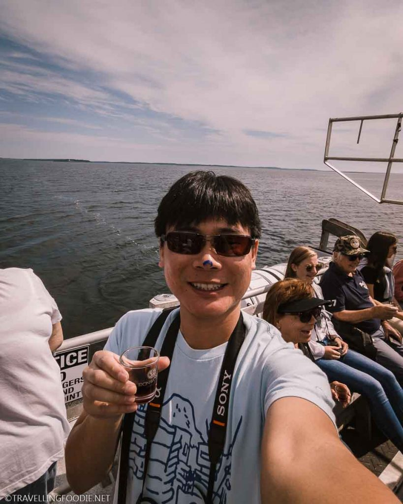 Travelling Foodie Raymond Cua bluenosed at Tusket Island Tours in Nova Scotia