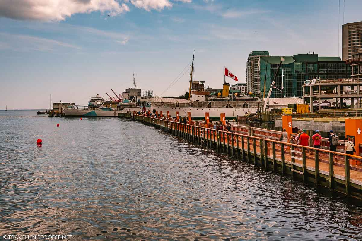 Pedestrian Sea Bridge in Halifax, Nova Scotia