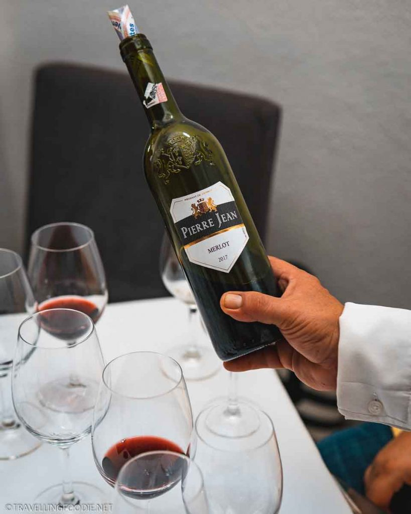 Pierre Jean Merlot 2017 Wine Tasting at Cafe des Artistes in Puerto Vallarta, Mexico