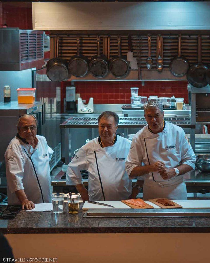 Chefs Roland Menetrey, Heinz Reize and Thierry Blouet for Puerto Vallarta Festival Gourmet International Master Class