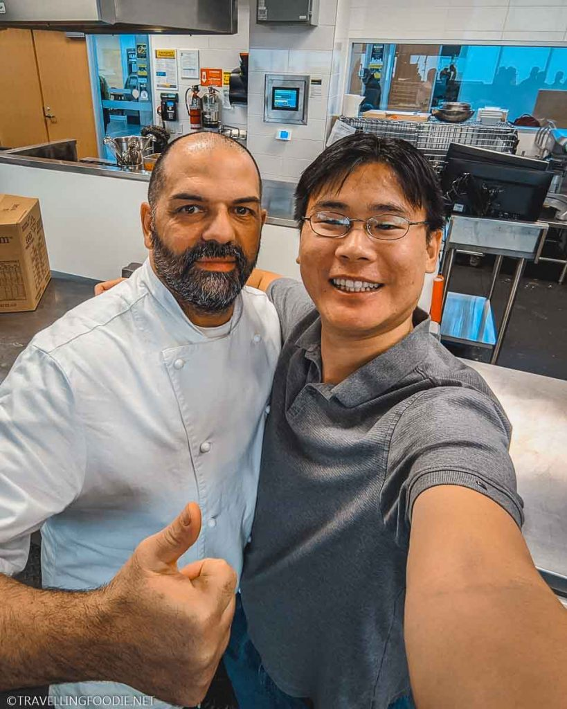 Chef Giovani De Luca and Travelling Foodie Raymond Cua at Centennial College Master Class in Toronto