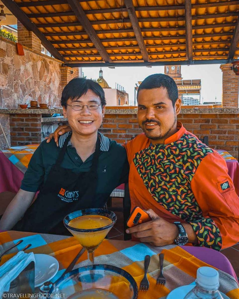 Chef Julio Cesar and Travelling Foodie Raymond Cua at Gabys Restaurant in Puerto Vallarta Mexico