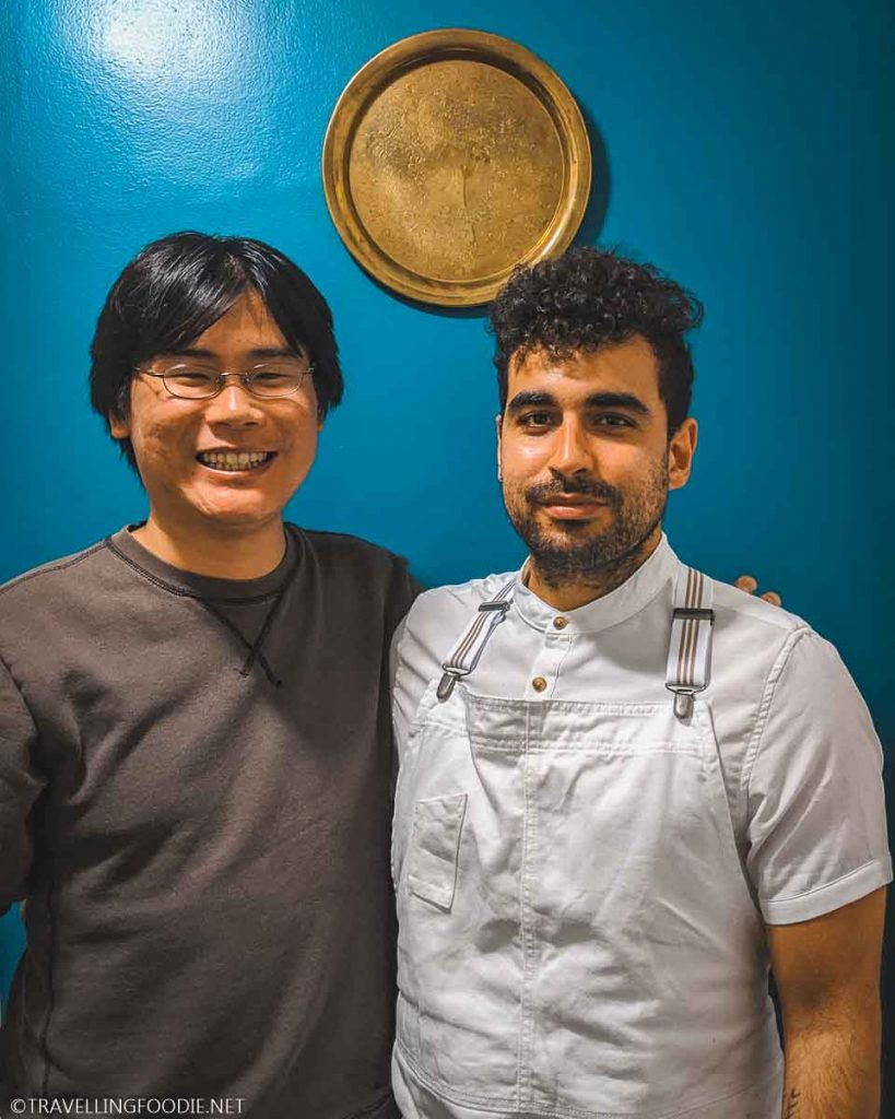 Chef Khalil Omar and Travelling Foodie Raymond Cua at Saha Dinners in Hamilton, Ontario