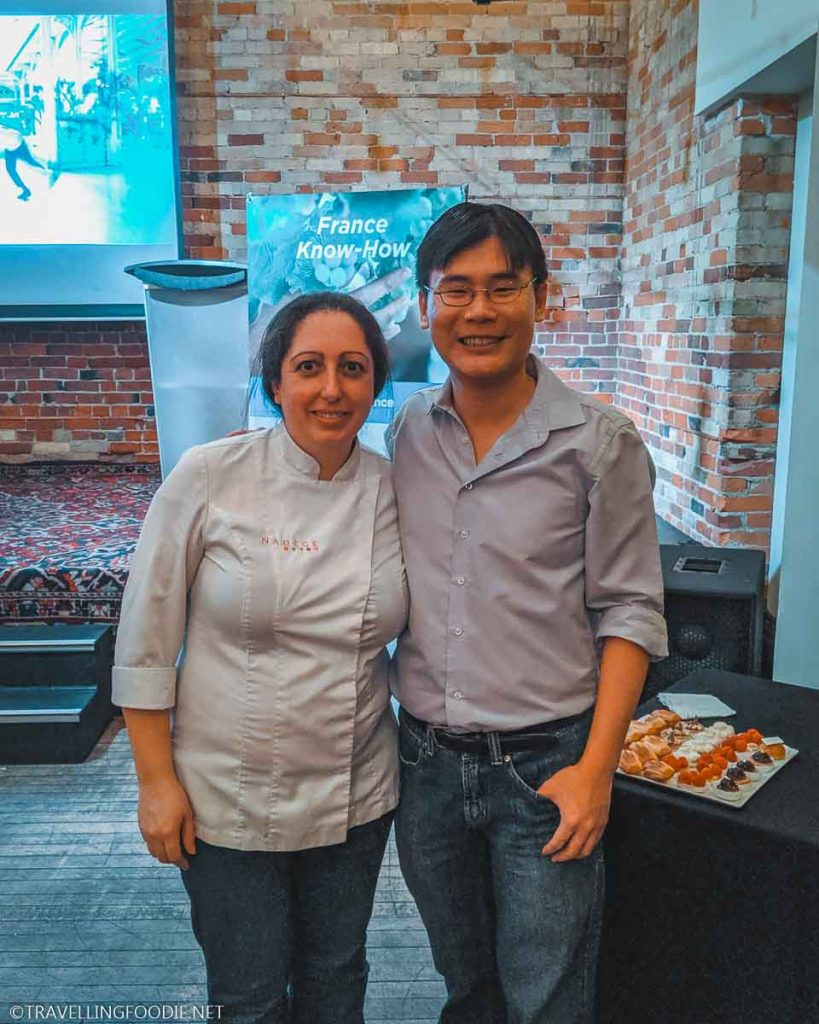 Chef Nadege Nourian and Travelling Foodie Raymond Cua at The Drake Hotel in Toronto