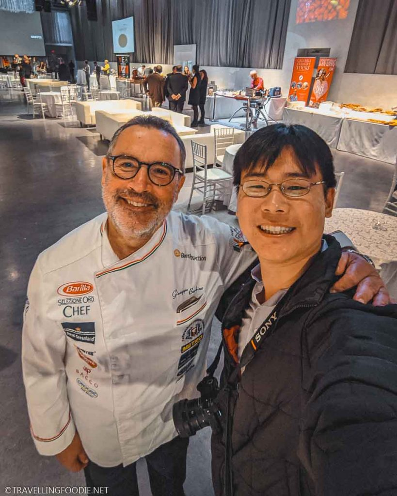Chef Pino Barbino and Travelling Foodie Raymond Cua at Taste of Calabria in Toronto