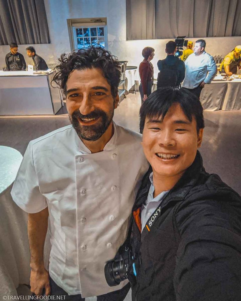 Chef Roberto Fracchioni and Travelling Foodie Raymond Cua at Taste of Calabria in Toronto