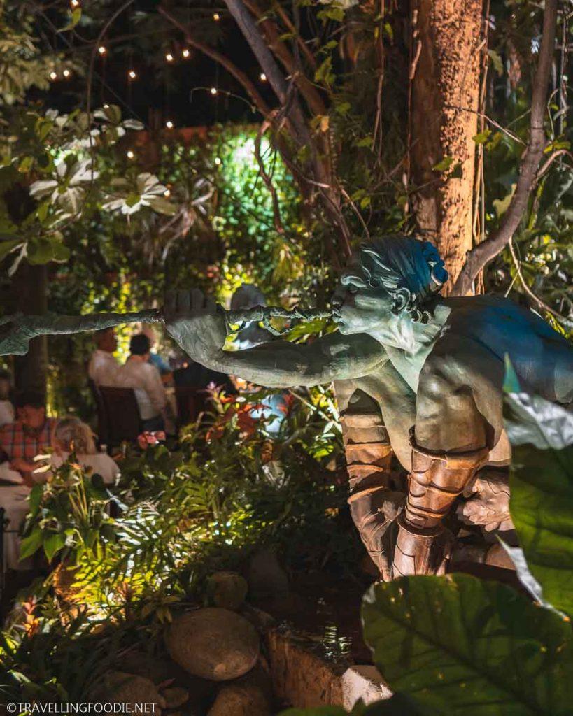 Garden Sculpture at Cafe des Artistes in Puerto Vallarta, Mexico