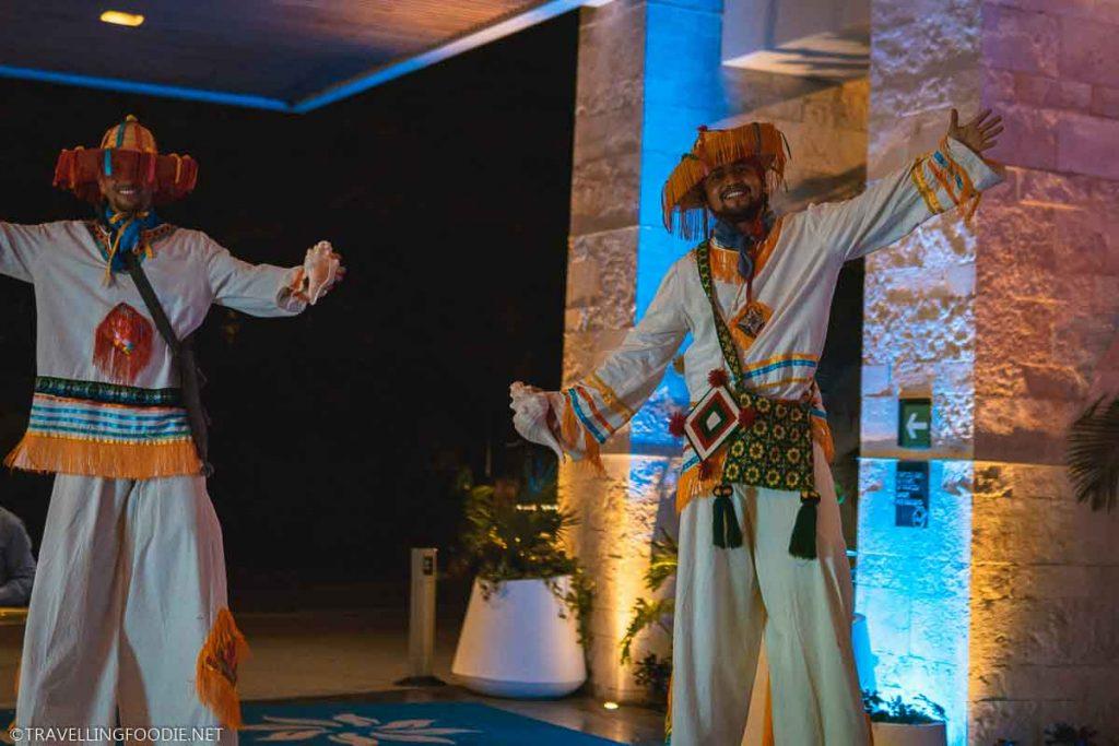 Stilt Walkers at Festival Gourmet International in Puerto Vallarta, Mexico