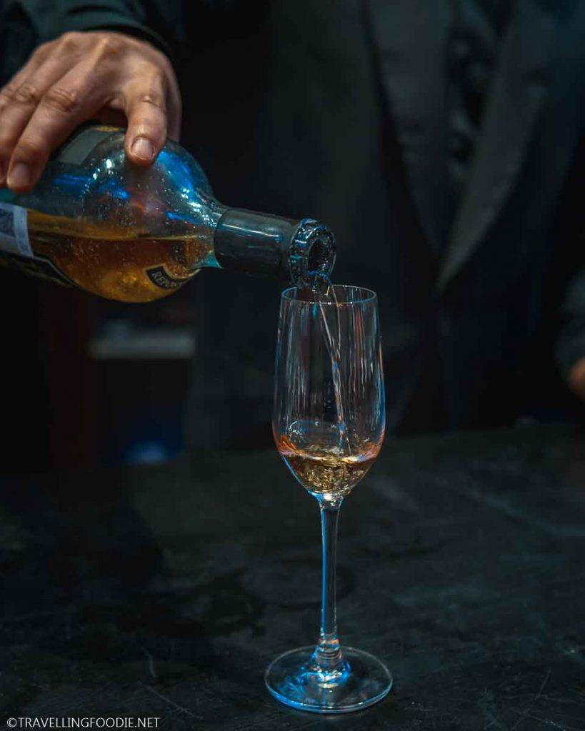 Pouring Jose Cuervo Tequila during Grand Gourmet Village at Vidanta for Puerto Vallarta Festival Gourmet International
