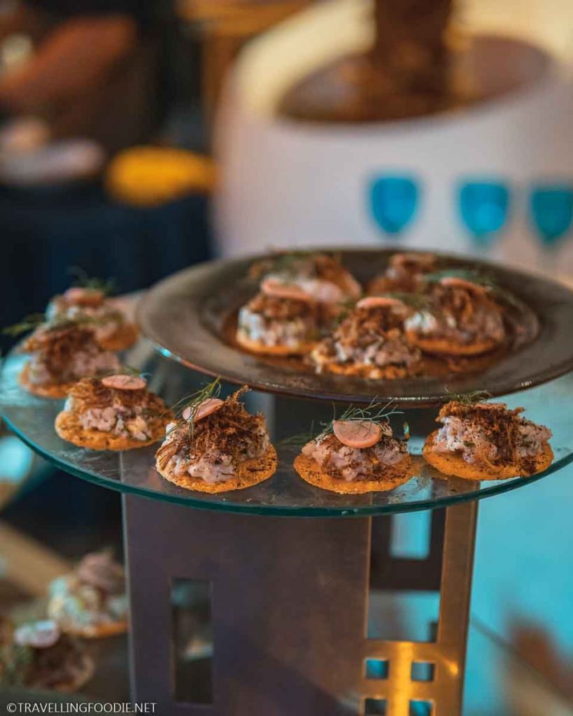 Red Snapper Ceviche Tostada at Puerto Vallarta Festival Gourmet International Grand Gourmet Village
