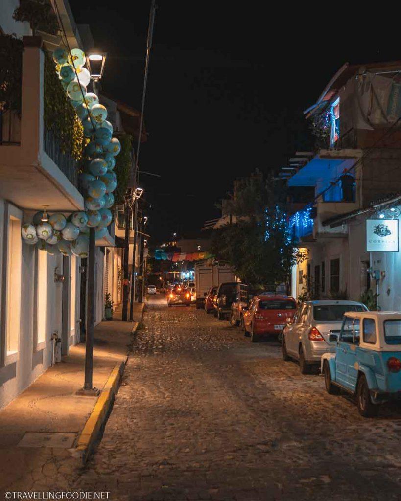 Streets at Night in Puerto Vallarta, Mexico