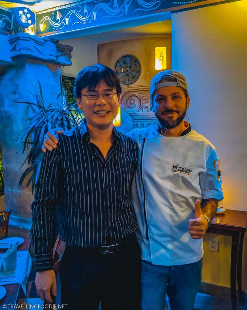 Chef Jorge Avendano with Travelling Foodie Raymond Cua at Trio Restaurant in Puerto Vallarta, Mexico