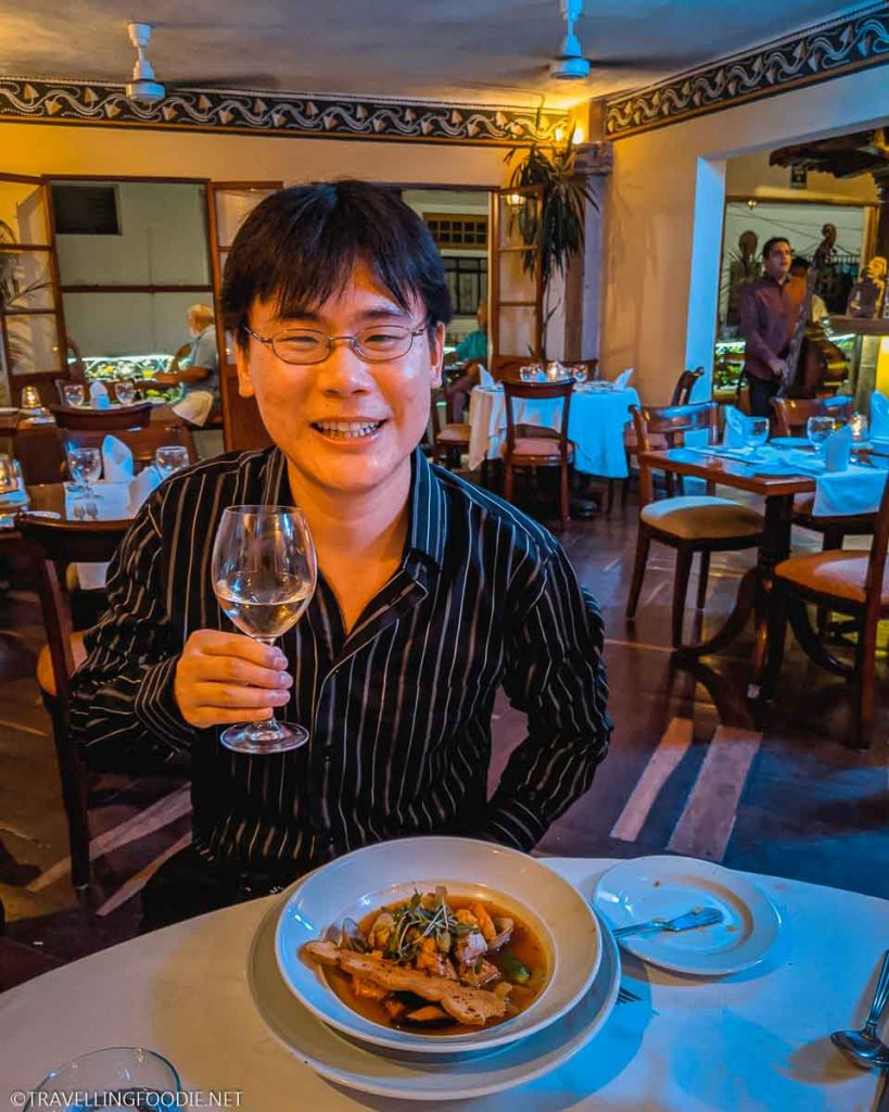 Travelling Foodie Raymond Cua with food and wine at Trio Restaurant for Puerto Vallarta Festival Gourmet International