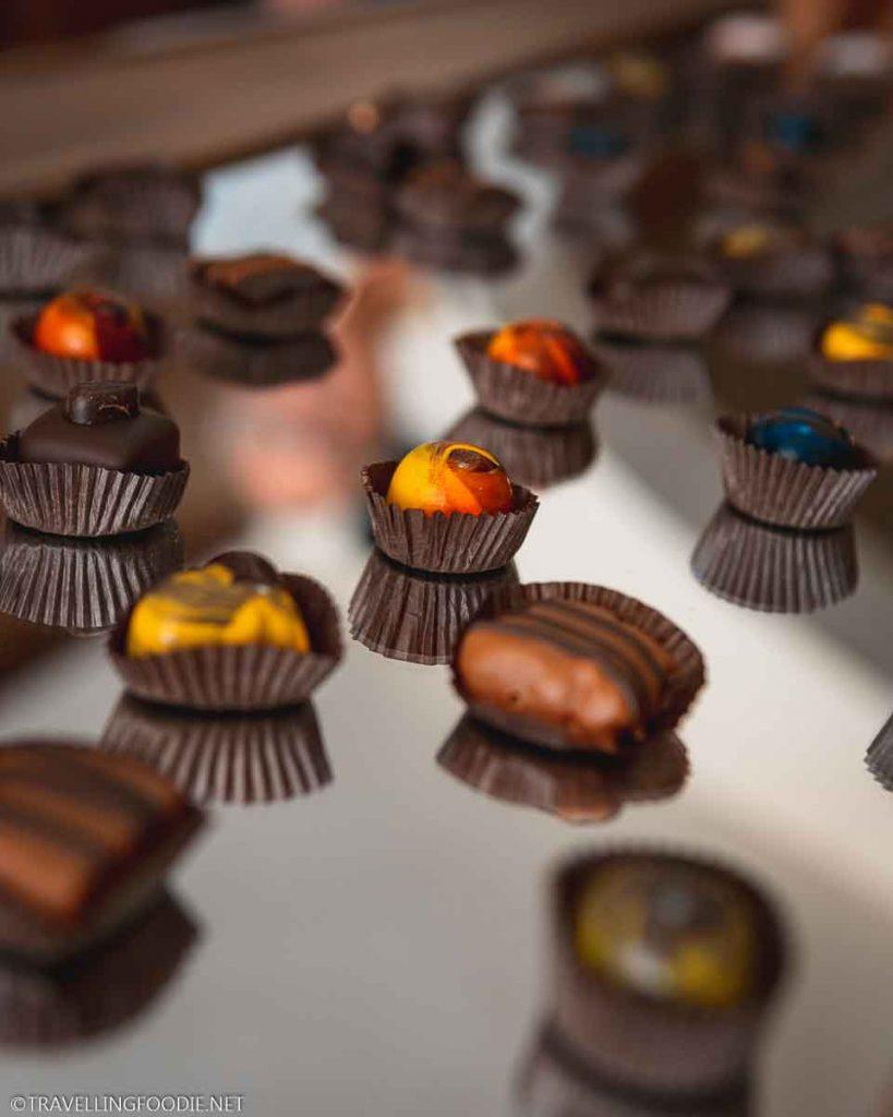 Handcrafted truffles from Xocodiva Artisan Chocolate in Puerto Vallarta, Mexico
