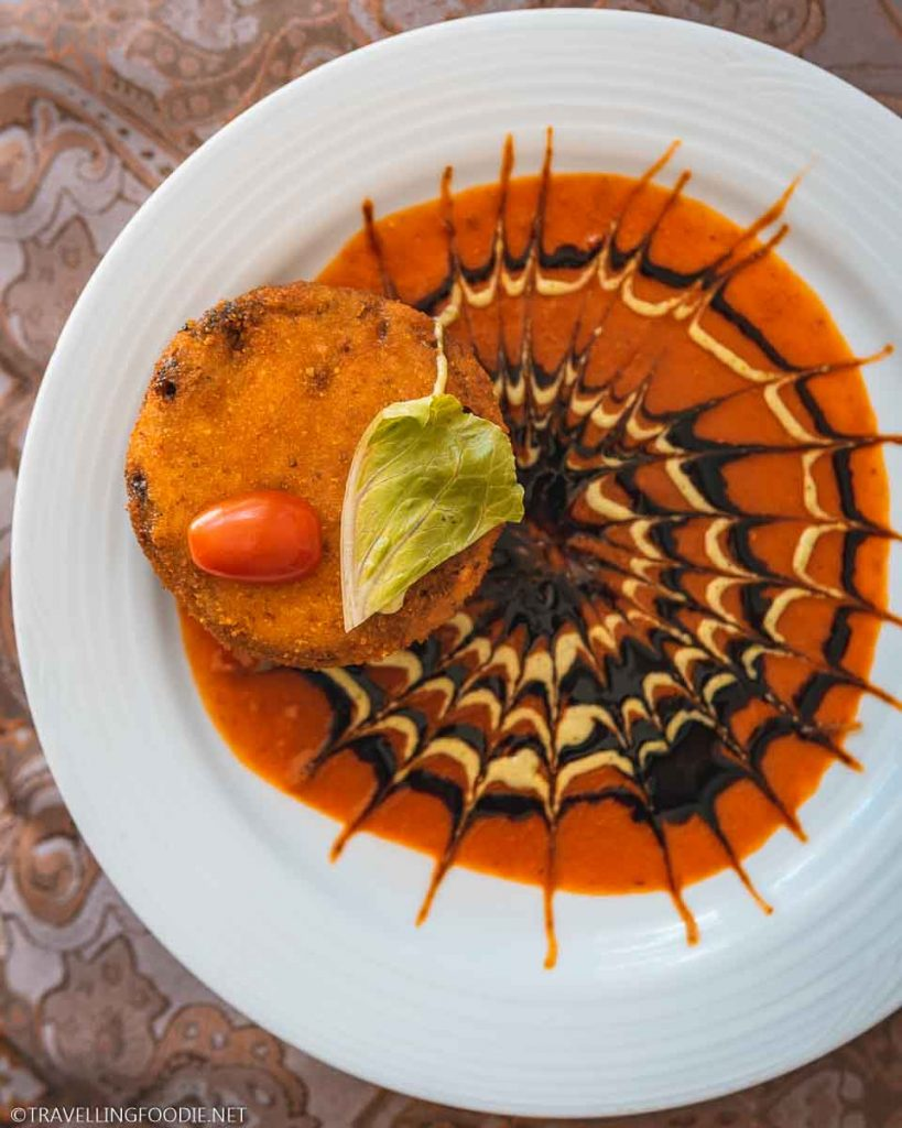 Shrimp, Mushroom and Cheese Fritter at Roberto's Original Puerto Nuevo in Puerto Vallarta, Mexico