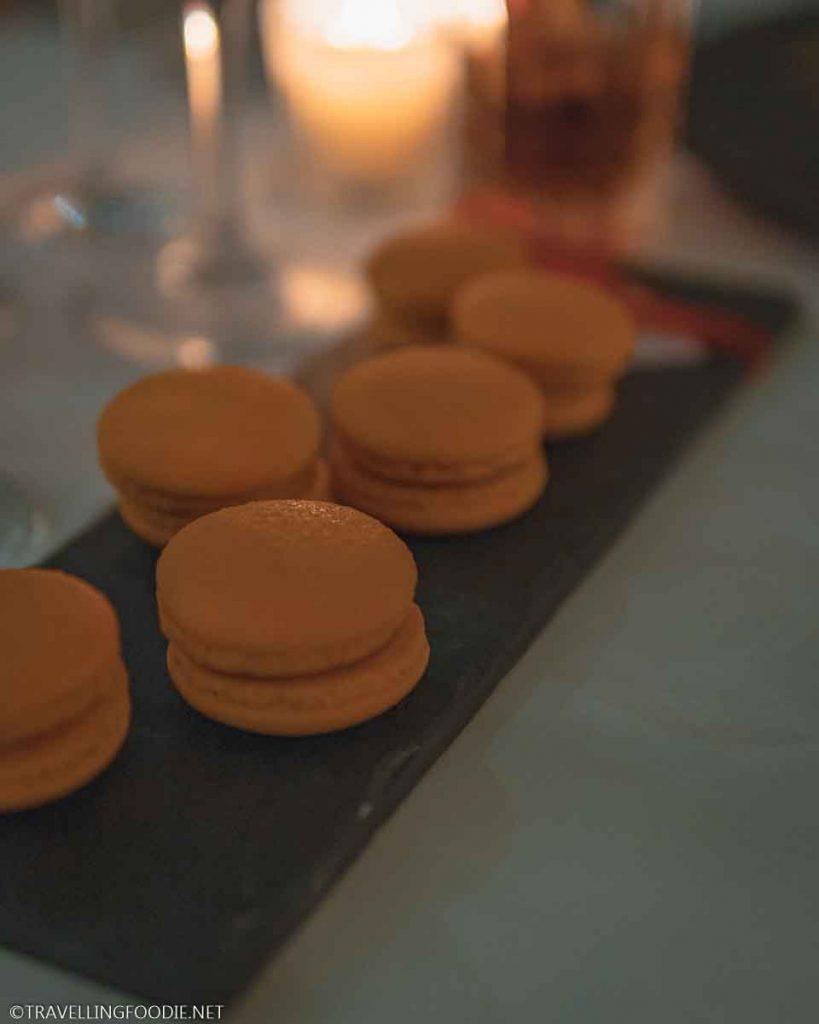 Peach Macarons at Cafe des Artistes in Puerto Vallarta, Mexico