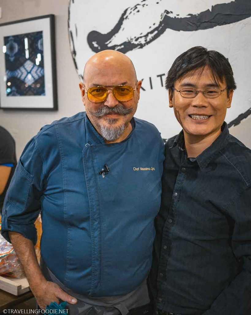 Chef Massimo Capra and Travelling Foodie Raymond Cua at Capra's Kitchen in Mississauga