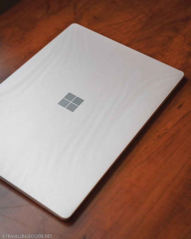 Closed Brand New Microsoft Surface Laptop 3 on Office Table