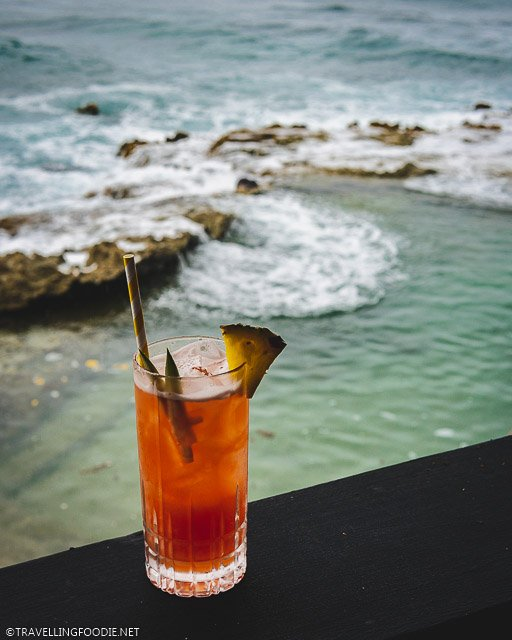 Rum Punch Cocktail at AMA at Cane Bay in Saint Croix, USVI