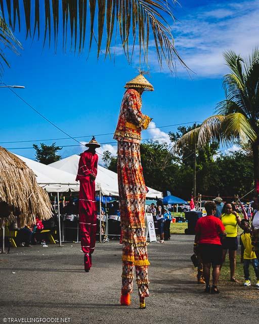 Carnival Stilt Walkers at USVI Agrifest in St. Croix