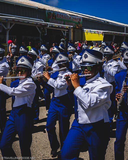 Marching Band at St. Croix Agriculture and Food Fair in US Virgin Islands