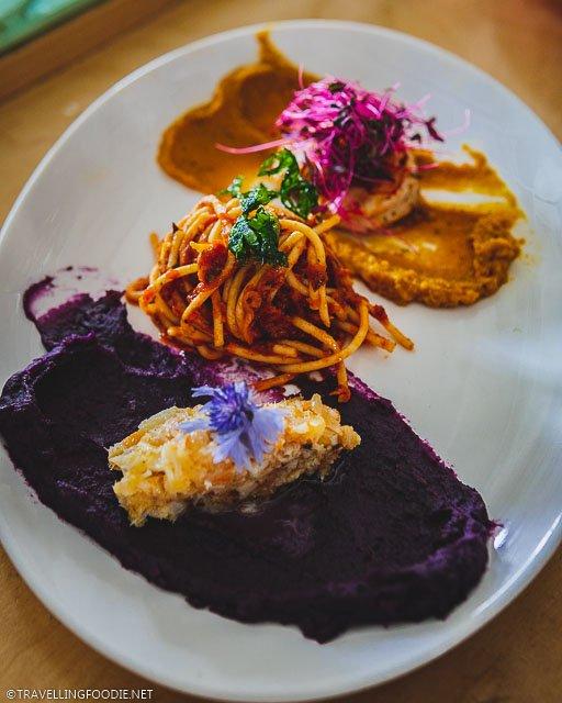 Fish, Pasta and Shrimp for Caribbean Brunch at Agrikol for Montreal en Lumiere 2020