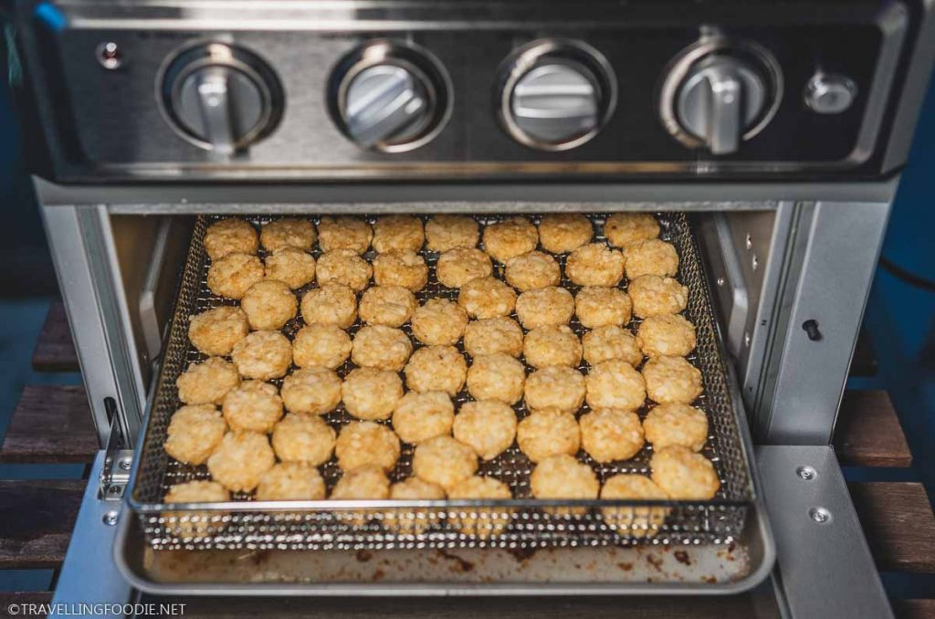 Potato Tots placed on Air Fryer