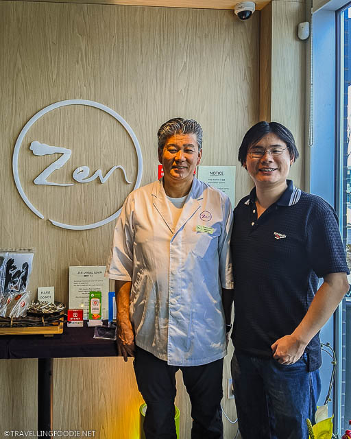 Chef Seiichi Kashiwabara and Travelling Foodie Raymond Cua at Zen Sanuki Udon in Toronto, Ontario