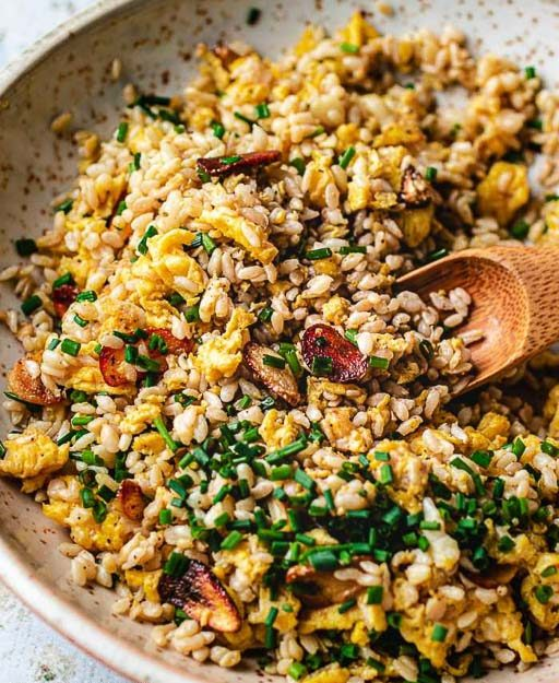 Keto Garlic Fried Rice